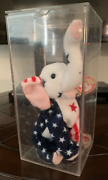 Beanie Babies Ty 2000 Righty The Elephant New Nwt + Display Case Gop Election Yr