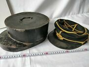 Wwii Japanese Military Imperial Soldierand039s Dress Uniform Cap And Case Set -d0924-