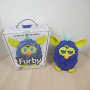 Hasbro 2012 Furby Boom Navy Blue Yellow Ears And Feet Teal Hair Tested And Working