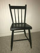 Antique Plank Bottom Paint Decorated Dining Room Side Chair