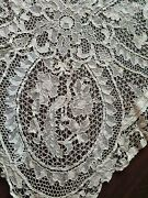 Antique Lace Bobbin/needle Point Hand Made Italian French Lace Table Cloth Figur