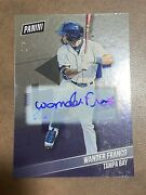 2019 Panini National Convention Wander Franco Rookie Auto Rc 1/5