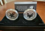 American Eagle 2021 1 Oz Silver Reverse Proof Two-coin Set Designer Edition 21xj