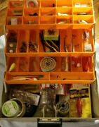 Vintage Rebel Tackle Box And Contents. See Pictures And Description For Lot