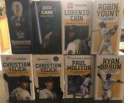 2021 Milwaukee Brewers Bobblehead Lot Uecker Yelich Yount Cain Molitor Braun
