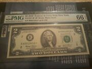 2003 2 Two Dollar Bill Low Print Star Note Only 16k Issued Pmg 66 Epq