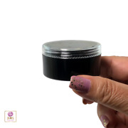Cosmetic Containers Empty Black Plastic Jars 30 Gram Ml Clear Lids 195 .3837