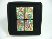Zippo 1995 Mysteries Of The Forest Collectorand039s Set Of 4 Lighters