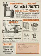 1945 Ad.xf25albert Lea Foundry Co. Minn. Queen Oil Burning Brooder Stove