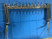 Metropolis H Polished Stainless Steel Draft Beer Tower 12 Faucets
