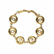 Vintage Cc Mark Bracelet Series Coco Brass Gold Accessory Women And039s _49159