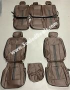 Katzkin Ford F150 Xl Xlt Supercrew Supercab Leather Seat Covers Coffee And Black