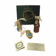 Waterford Holiday Heirlooms Ornaments Holy Family First Issue 2001 Discontinued