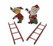 House Of Lloyd 1991 Christmas Around The World Up The Ladder Santa And Elf No Box