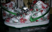 New Nike Dunk High Sb Concepts Ugly Christmas Sweater Grey Sz 8 Ds Xmas Gray