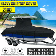 210d 16-24ft Heavy Duty Center Console T-top Roof Boat Cover Storage Waterproof