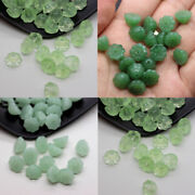 50pcs 10x7mm Lotus Glass Crystal Loose Beads Diy Jewelry Accessories Pendant