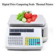 Us 66lb 30kg Digital Scale Computing Price Electronic Counting Weight W/printer