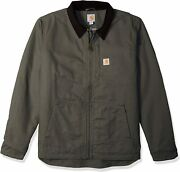 Menand039s Full Swing Loose Fit Washed Duck Fleece-lined Jacket