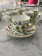 Blind Earl By Royal Worcester Cup Saucer Raised Pattern Excellent