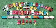 Vintage Lesney Car Truck Lot Taxi Fire Police 1960s 1970s Toy Lot Of 56 England