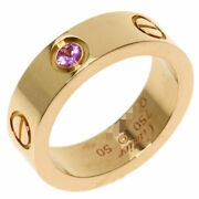 Love Ring 1p Pink Sapphire 50 K18 Gold Women And039s Secondhand _54730