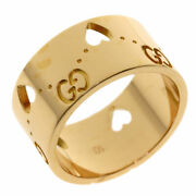 Icon Amor Wide 10 Ring K18 Pink Gold Women 's Secondhand _34340