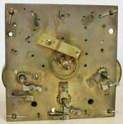 Antique German W And H 8 Day Westminster Chime Clock Movement - Spares Or Repair