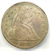 1872 Seated Liberty Silver Dollar 1 - Icg Vf30 Details- Rare Early Coin