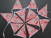 Handmade Snoopy Nursery Bunting Double Sided Red Pennant 12 Flags 210 Cm 82 Inch