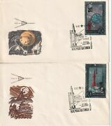 Russia 1965 Space 2 Aluminium Foil Stamp On 2 Covers