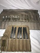 Antique E. Keller And Sons Allentown, Pa Whole Sterling Flatwear Set Of 18