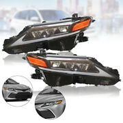 Led Drl Headlights Clear Lens Lamp W/bulb For Toyota Camry 2018-2021 Leftand Right