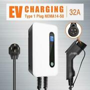 Type 1 For Tesla Ev Car Charger 32a Electric Vehicle Charging Station Sae J1772