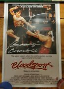 Jean Claude Van Damme And Bolo Yeung Signed Autographed Bloodsport 16x24 Poster As