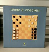 Michael Graves Design Chess And Checkers Set With Original Purchase Order