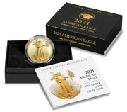 2021-w American Eagle One Ounce Gold Proof Coin 21ebntype 2 Sealed