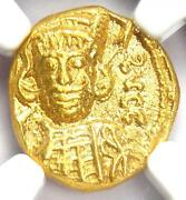 Constantine Iv Av Solidus Gold Coin 668-685 Ad - Certified Ngc Choice Ms Unc