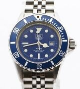 Tag Heuer 980.615m/1 Professional Wristwatch Blue Dial Boys Working Products