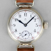 Omega Antique Enamel Dial Trench Hand-wound Watches Vintage Mens Watch 1915