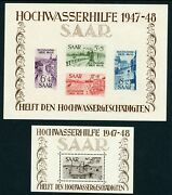 Germany / Saar / French Occupation 1948 Sg.ms255a And Sg.ms256a U/m With