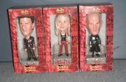 Buffy The Vampire Slayer, Angel, And Spike Bobble-heads Hand Painted Le Rare New