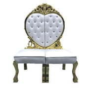 Chesterfield Thron Fauteuil Royal Rembourrage Velours Amour Herz Style Antique