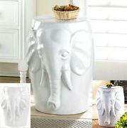 Elephant Bust Decorative Stool Seat Chair Plant Or Sculpture Stand Nib