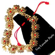 Guy Laroche Vintage Coral Gold Statement Necklace