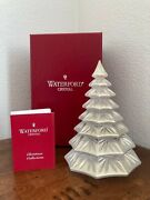 Waterford Crystal Gold 6.5andrdquo Christmas Tree Sculpture Figurine In Box Rare