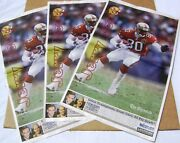 Lot 3 1998 San Francisco Chronicle Newspaper Jerry Rice Poster 9-17-98