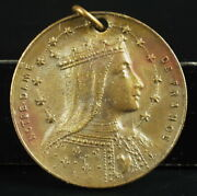 Medal Our Lady French Shield Flag C1920 A J Corbierre 0 7/8in Medal