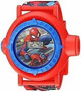 Secondhand Imported Goods Spiderman Boys Quartz Watch With Plastic Strap Red