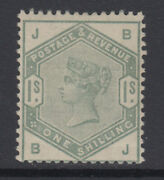 Sg 196 1/- Green Position Bj In Post Office Fresh Unmounted Mint Condition .